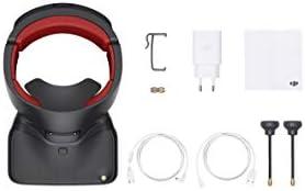 DJI Goggles Racing Edition - Conçues 3840 x 1080 MP Pour Les Drones DJI, Pavé Tactile & Radiocommande, 2 Écrans Ultra HD (1920 x 1080 MP), Jusqu'à 6 Heures d'Autonomie, Supports 2,4 et 5,8GHz - Noir