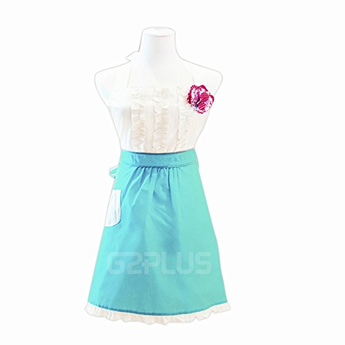 n, Lovely Classic Style Cooking Apron Kitchen Apron Baking Apron with Pocket, Great Gift for 2-6yrd Kid Girls Daughters, Macara Dragon White & Blue (Kid Girls Apron) ()