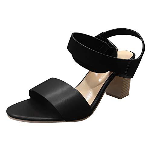 JJHAEVDY Women's Open Toe Chunky Block Heel Sandals Cross Strap Ankle Strap Buckle Shoes for Wedding Party Elegant