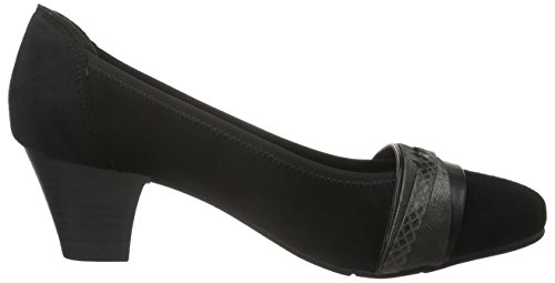 Jana Damen 8-8-22300-27 Pumps Schwarz (BLACK SUEDE 004)