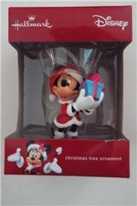 (NEW Hallmark Disney MINNIE MOUSE Santa Present CHRISTMAS ORNAMENT)
