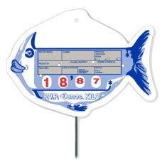 Cartel de Precios Tipo Pescado con Sujeción pincho - 145x103 ...