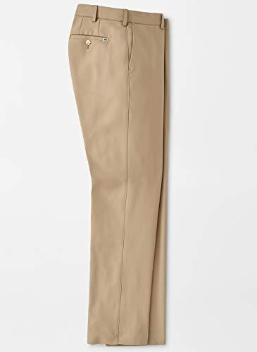PETER MILLAR Durham Performance Pant - Dark Sand - Mens Mechanical Stretch Pants Woven
