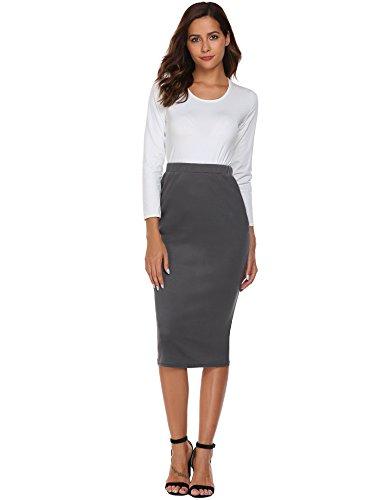Gray Stretch Skirt - 5