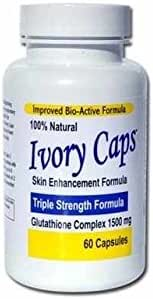 Ivory Caps Skin Lightening Whitening Support Pill 1500 mg Glutathione , preventing darkening of skin by jenicalimited