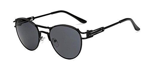 retro Grise Feuille rond Lennon lunettes cercle style en du de inspirées vintage polarisées métallique A soleil O76OYq