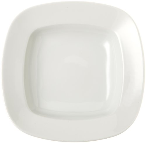 Pasta Rimmed Plate (Tognana Oliva 10-3/4-Inch Squared Rimmed Pasta Plate, 6-Piece)