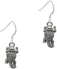 Horn Toad French Earrings