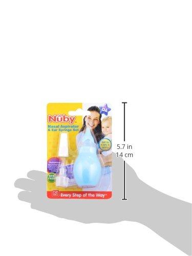 Nuby Nasal Aspirator and Ear Syringe Set, Colors May Vary