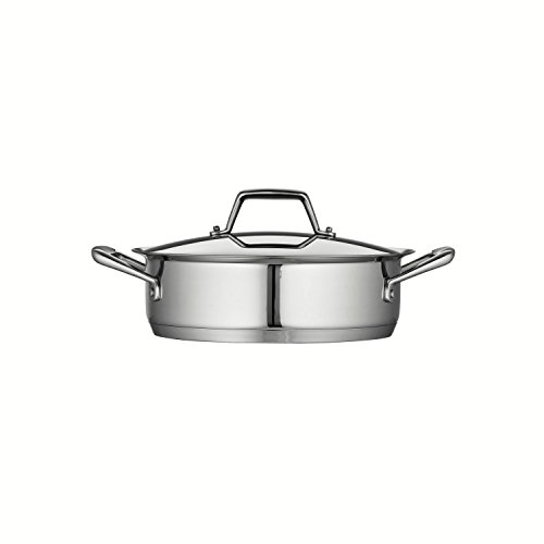 Tramontina Prima 3 Quart 18/10 Stainless Steel Tri-Ply Base Covered Casserole