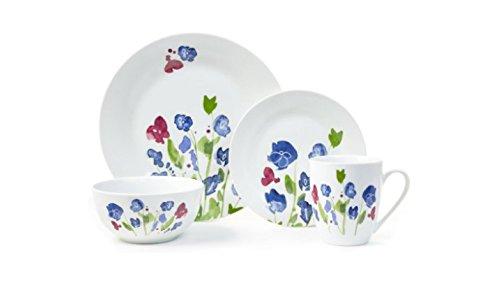 Placemate My Romantic Garden Collection 16-Piece Porcelain Dinnerware Set (Multicolor)