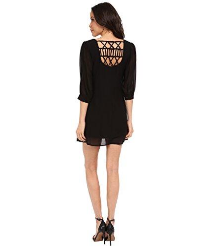 Brigitte Bailey Women's Cesena Lattice Shift Dress Black Dress XS