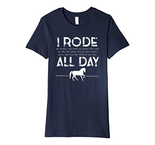 Womens Horse tShirt I Rode All Day Racing Riding Horseback Gift for $<!--$19.45-->