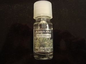 bath body works fresh balsam home fragrance oil .33 oz slatkin 7 -