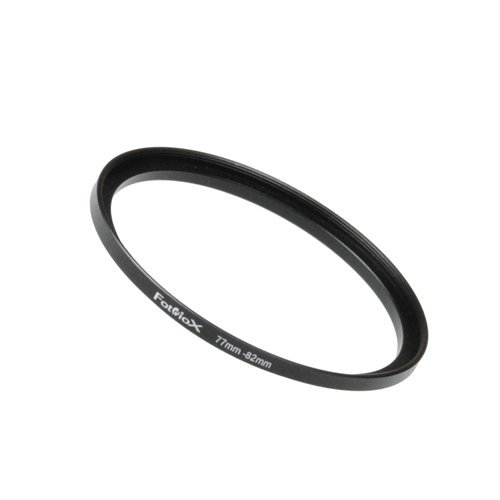 Fotodiox Metal Step Up Ring Filter Adapter, Anodized Black Aluminum 77mm-82mm, 77-82 mm (80mm Ring Adapter)