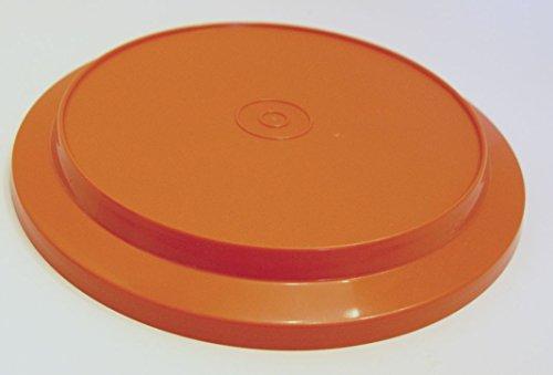 Harvest Orange Tupperware Vintage 3 Cup Seal N Serve Replacement Lid Plate