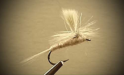 1 Dozen - Pale Morning Dun Parachute - Dry Fly - Trout Fly Fishing Flies Lures Strong Fish Hooks for Trout ()