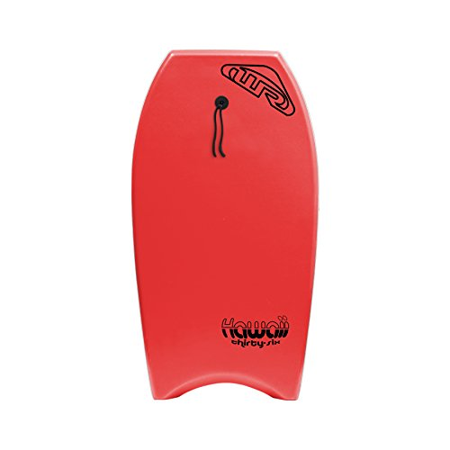 Wave Rebel Hawaii Body Board, Red, 36'