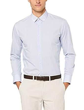 Van Heusen Slim Fit Business Shirt, Navy, Medium