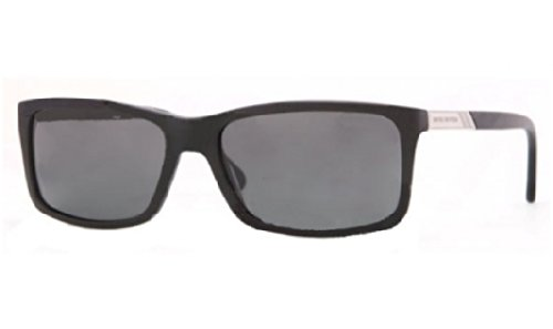 Brooks Brothers BB5014 Sunglasses 606481-57 - Matte Black Frame, Grey Solid - Shoes Brooks Mens Brothers