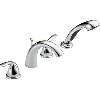 Delta Faucet T4705-25 Classic Roman Tub with Hand Shower Trim, Chrome