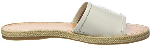 White Hilfiger Tommy 121 Femme Flat Ouvert Mule Blanc Bout whisper Leather Sandales vdnw0Pqdr