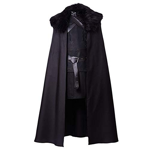 SIDNOR GoT Game of Thrones Night's Watch Jon Snow Cosplay Costume Outfit Suit Dress]()