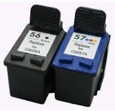 COMBO PACK - Remanufacturados HP 56 & 57 Cartuchos de Tinta para ...