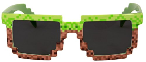 Elope Pixel Brick Sunglasses, - Pixel Art Sunglasses