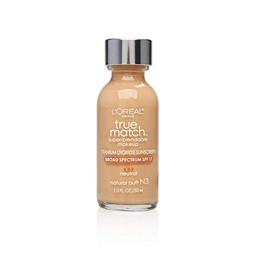 L Oreal Paris Makeup True Match Super-Blendable Liquid Foundation, Natural Buff N3, 1 fl. oz.