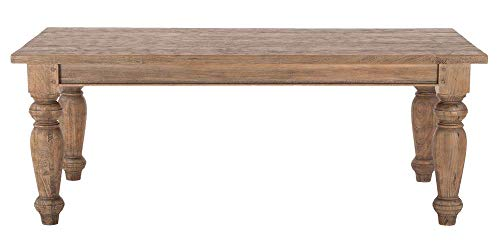 (World Interiors Rectangle Dining Table in Weathered Teak Finish)