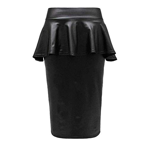 Look Top Robe Top Skirt Fashion18 Fril Skirt Femmes Jupe PVC Dress Legging 54 Moulante EU Taille Wet Top 36 SSt1q