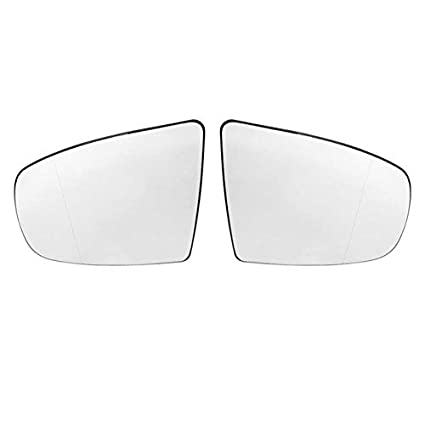 X AUTOHAUX Car Driver Left Rearview Blue Tinted Mirror Glass Heated with Backing Plate for BMW X6 E71 2008-2014