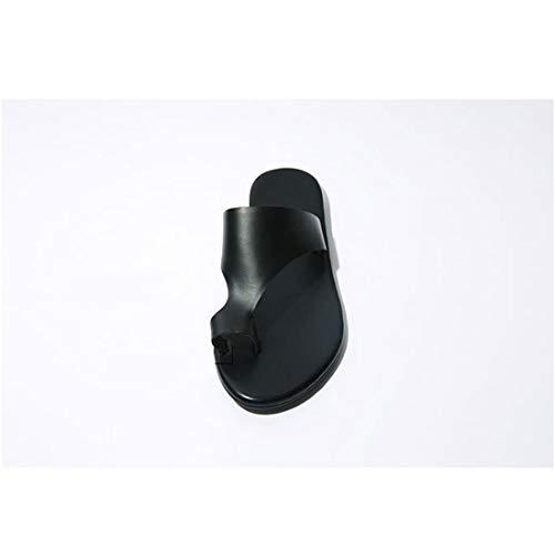 Femmes Doigts pincée Femmes Size Plage de 37 Noires Paresseux Plat Talon Pantoufles Chaussures Pantoufles Occasionnels Cijfay Chaussures wATqvIv