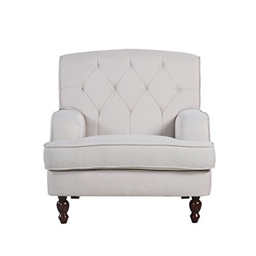 Modern Tufted Fabric Living Armchair