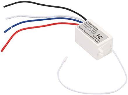 3 Receptores 1 Interruptor De Tres Bandas Mengshen Kit De Interruptor De Luces Inal/ámbrico No Requiere Cableado F/ácil De Instalar