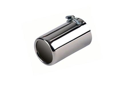 Auspuffblende universal Edelstahl rund 76mm Anschluss 50-70mm