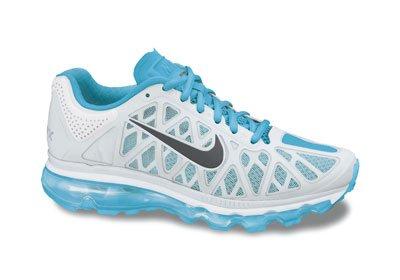 Nike Air Max + Van 2011 Vrouwen De 429.890-005 (5.5, Zwart / Metallic Platina-bright Volt-wit)