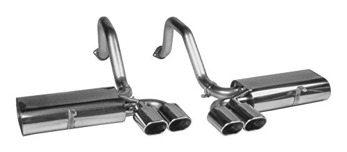 Billy Boat Performance Exhaust FCOR0200 Route 66 Quad Oval Exhaust System for Chevrolet Corvette C5