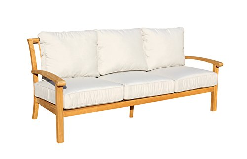 Courtyard Casual Natural Heritage Outdoor Teak Sofa