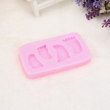 UR Bakeware Foot Toes Shape Silicone Mold Cookware Cake Decor Soap Mould
