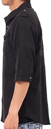 シャツ 六分袖 接触冷感 ミリタリー 192N1508