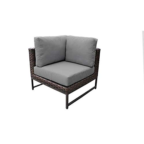JumpingLight Barcelona Corner Sofa in Grey Durable and Ideal for Patio and Backyard