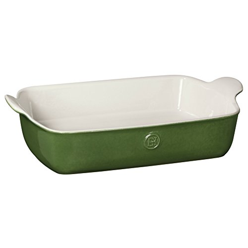 Emile Henry Made In France HR Modern Classics Large Rectangular Baker, 13 x 9'', Green by Emile Henry