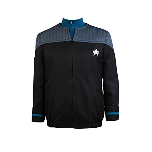 Original Star Trek Womens Uniform (Ya-cos Men's Suit Jack+Badge+Shirt Nemesis Uniform Costume 3 Colors)