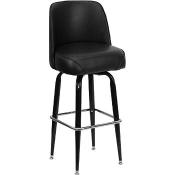 Flash Furniture Metal Bar Stool With Swivel Bucket Seat