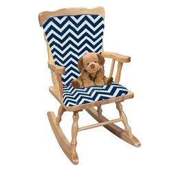 BabyDoll Minky Chevron Rocking Chair Cushion, Navy