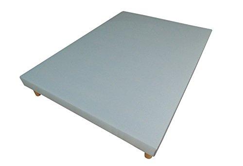 Sommier tapissier volige déco 90 x 190 gris