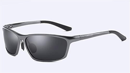 Sol Marco Gafas Viajar de para Negro UV Gray Sol XIYANG magnesio protección Retro de Gafas de Completo polarizadas Hombres Aluminio y conducción FwaCCqx