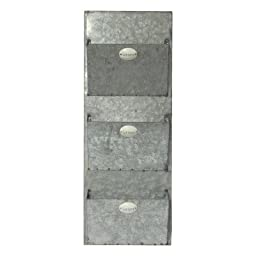 Cheungs Home Decorative Accent Letter Storage Rack Galvanized Metal Mail Wall Storage